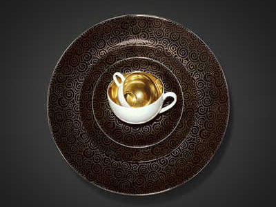 Dibbern Ornament Gold/Schwarz