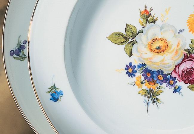 Alt Fürstenberg Bunte Blume Dekor 2199