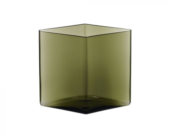 iittala Ruutu - Vase 20,5 cm x 18 cm, moosgrün