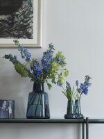 Holmegaard Flora Vase mit langem Hals, blau, 12 cm