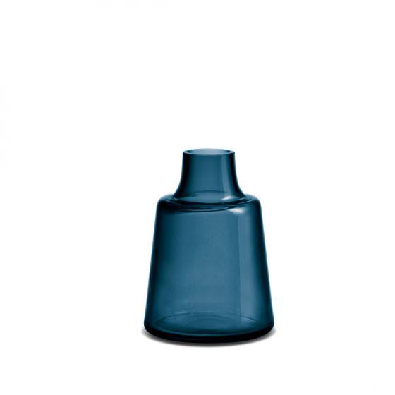 Holmegaard Flora Vase mit kurzem Hals, blau, 24 cm