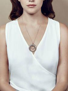 Christofle Idole de Christofle - Halskette, Doppelringanhänger, groß
