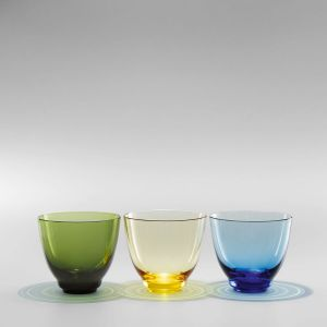 Holmegaard - Flow Wasserglas 35 cl, blau
