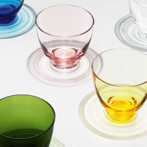 Holmegaard - Flow Wasserglas 35 cl, amber