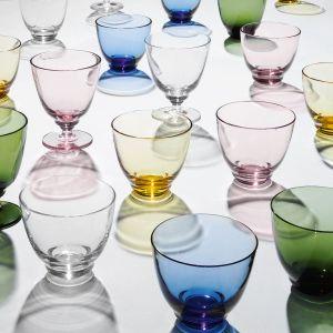 Holmegaard - Flow Wasserglas mit Fuß 35 cl, klar