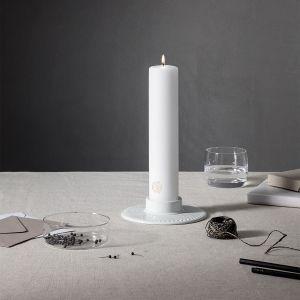 Lyngby Porcelæn - Rhombe Blockkerzenhalter, glänzend
