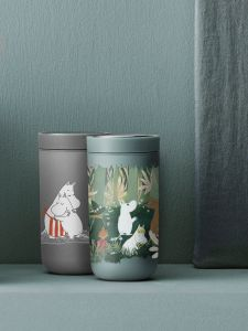 Stelton x Mumin To Go Click - Isolierbecher 0,4 Liter, soft dusty green
