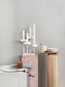 iittala Nappula - Kerzenhalter, vierarmig, weiß