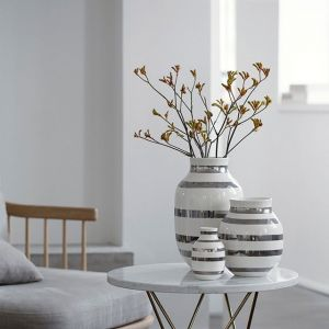 Kähler Design - Omaggio Vase - Silber, H 30,5 cm