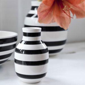 Kähler Design - Omaggio Vase - Schwarz, H 12,5 cm