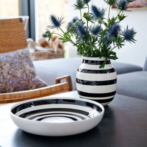 Kähler Design - Omaggio Vase - Schwarz, H 20 cm