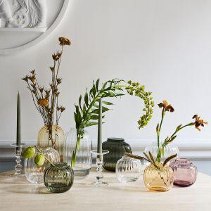 Holmegaard - Primula Vase amber, 12,5 cm