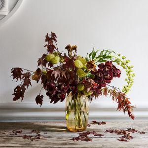Holmegaard - Primula Vase amber, 25,5 cm
