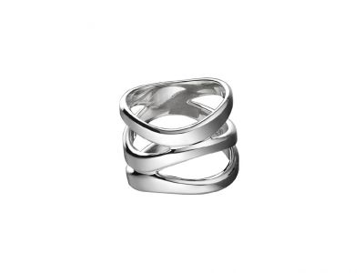 Christofle Rivage Ring, groß, Sterlingsilber