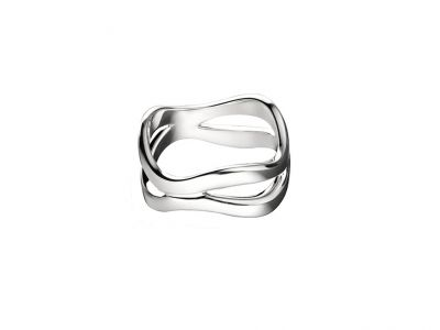 Christofle Rivage Ring, klein, Sterlingsilber