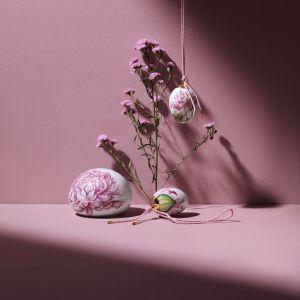 Royal Copenhagen - 2 Porzellaneier Pompon Mohn &  Pompon Mohn Blütenblätter, 2021