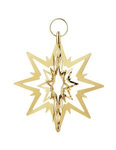 Georg Jensen - TOP STAR - goldenes Ornament, klein