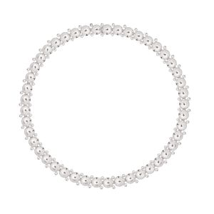 Christofle - Perles Halskette, Sterlingsilber