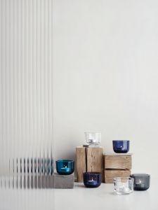 iittala Valkea Teelichthalter, regenblau