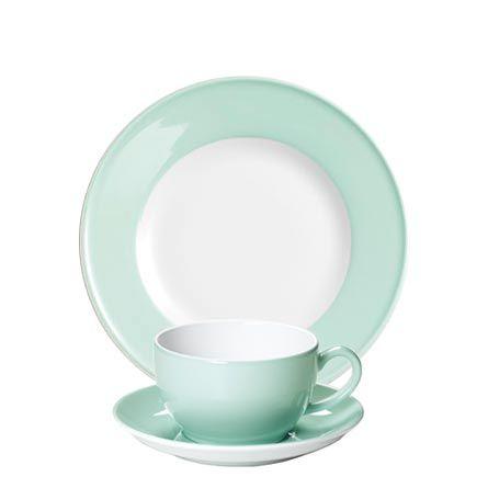 Dibbern Solid Color Mint - Frühstücksgedeck
