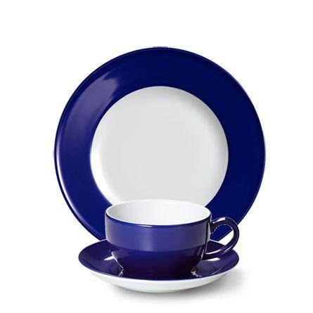 Dibbern Solid Color Kobalt - Frühstücksgedeck