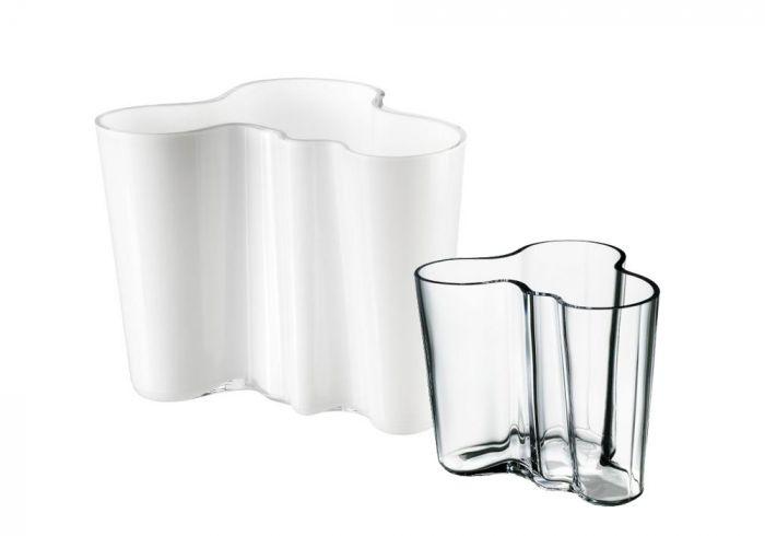 Set iittala Aalto Vasen opal 16 cm + klar 9,5 cm