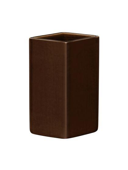 iittala Ruutu - Keramik Vase 18 cm, braun