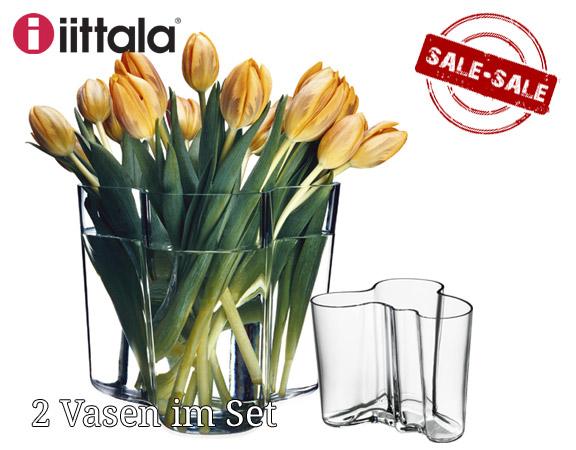 Set iittala Aalto Vasen klar 9,5 + 16 cm